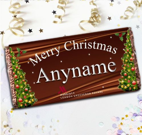 Personalised Merry Christmas Chocolate Bar - Use for Marriott Hotel Only